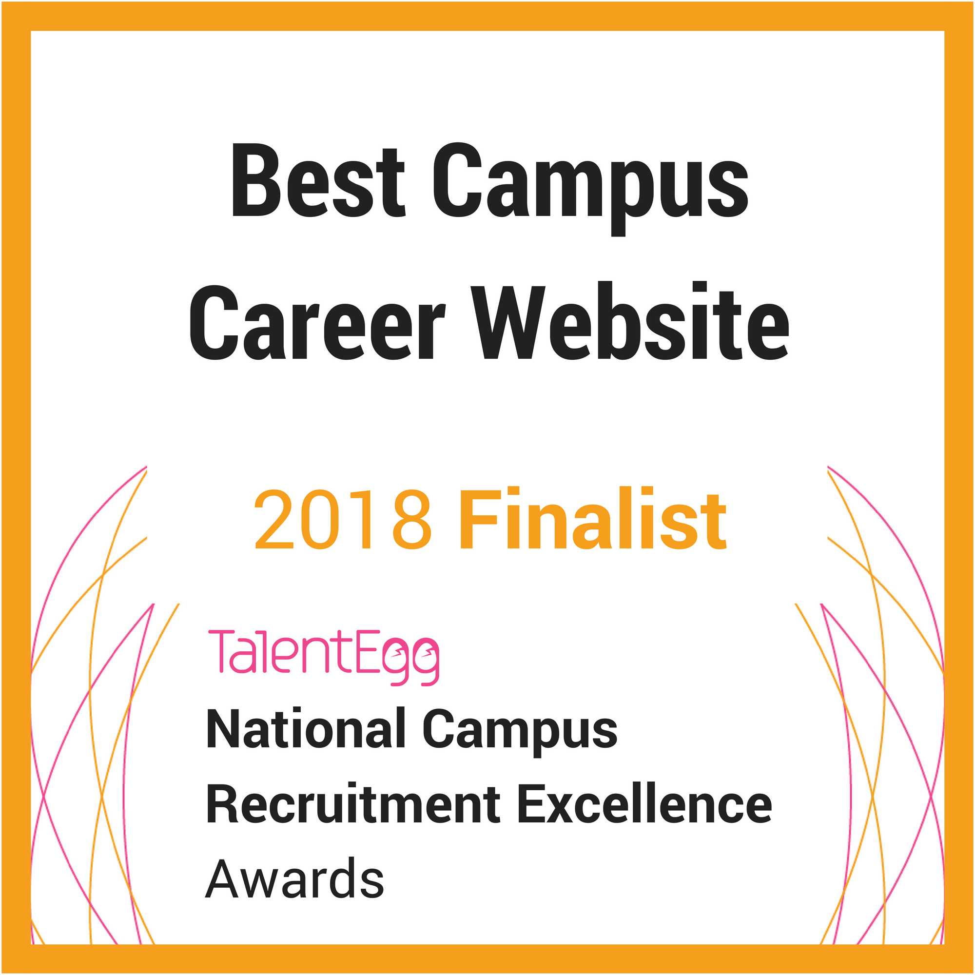 2018 TalentEgg Awards Best Campus Career Website Finalist
