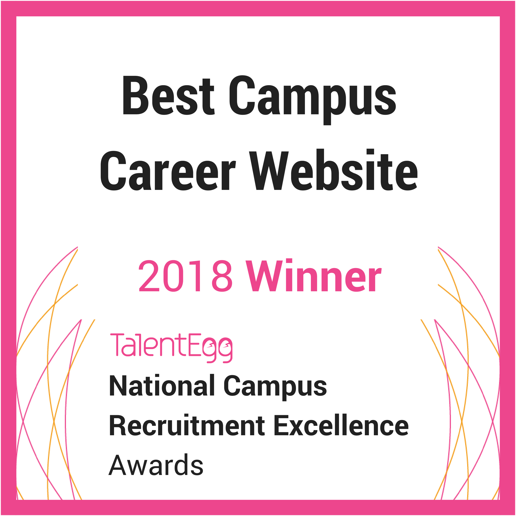 2018 TalentEgg Best Campus Career Website Winner