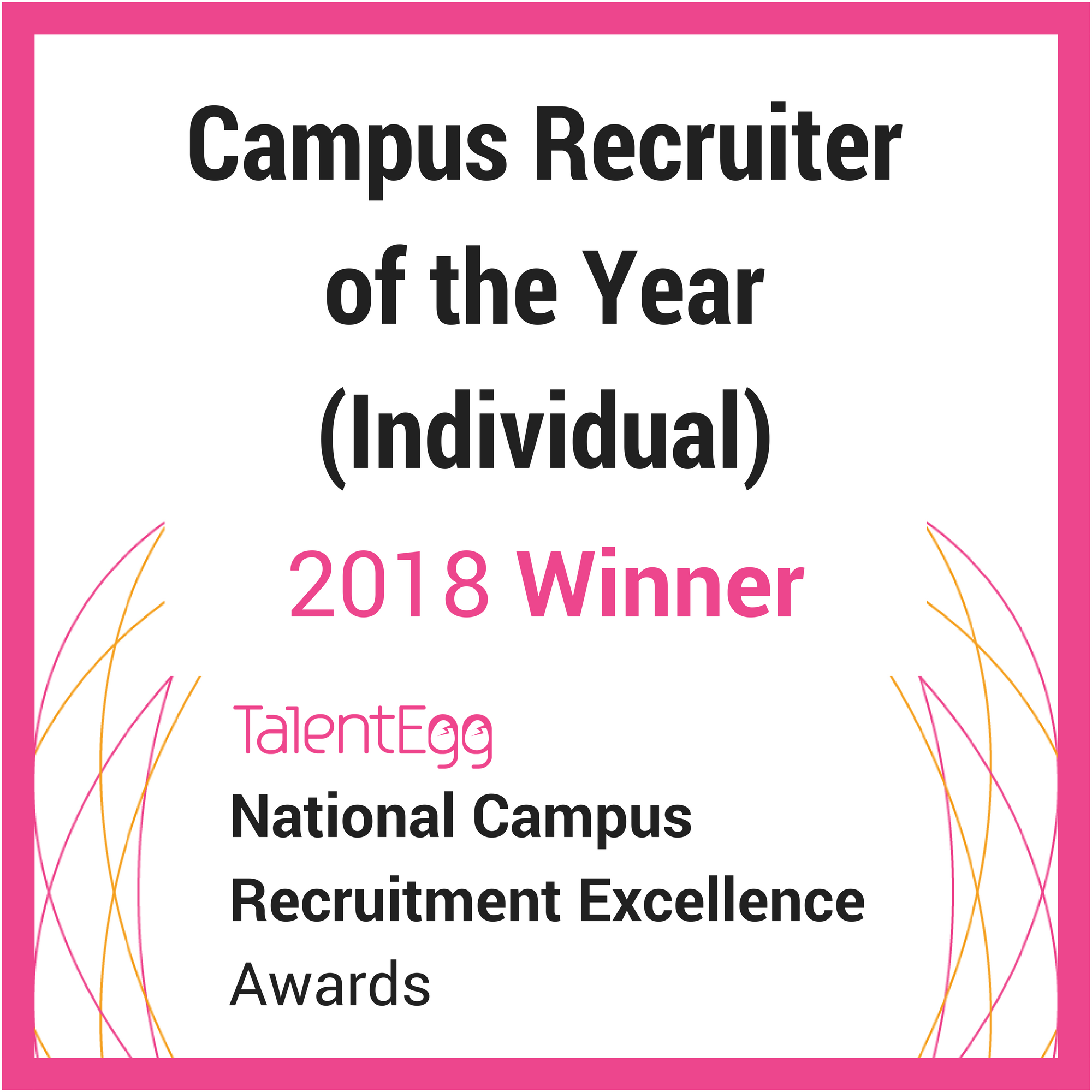 Campus Recruiter of the Year 2018 Winner