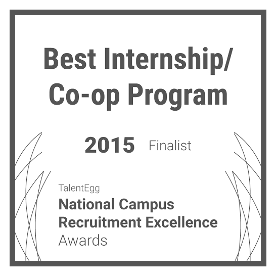 Best Internship/Co-op Program Finalist 2015