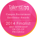 Best Internship or Co-op Program Finalist 2014