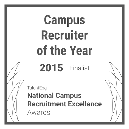 Campus Recruiter of the Year 2015 Finalist