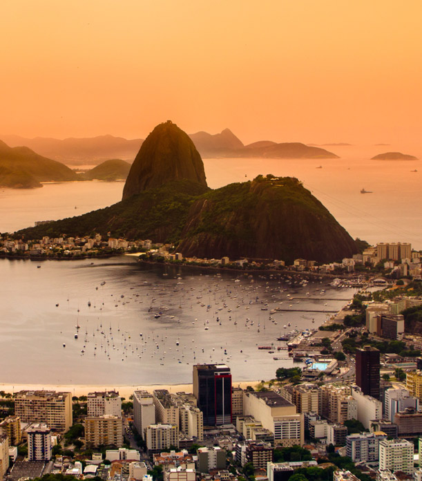 Brazil at sunset