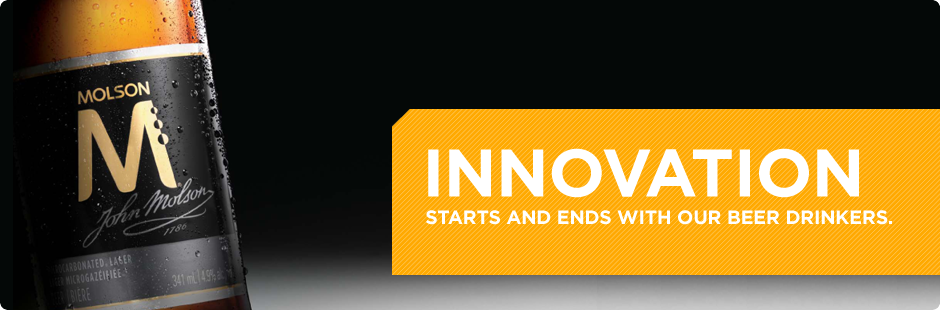 Innovation starts and ends with our beer drinkers.