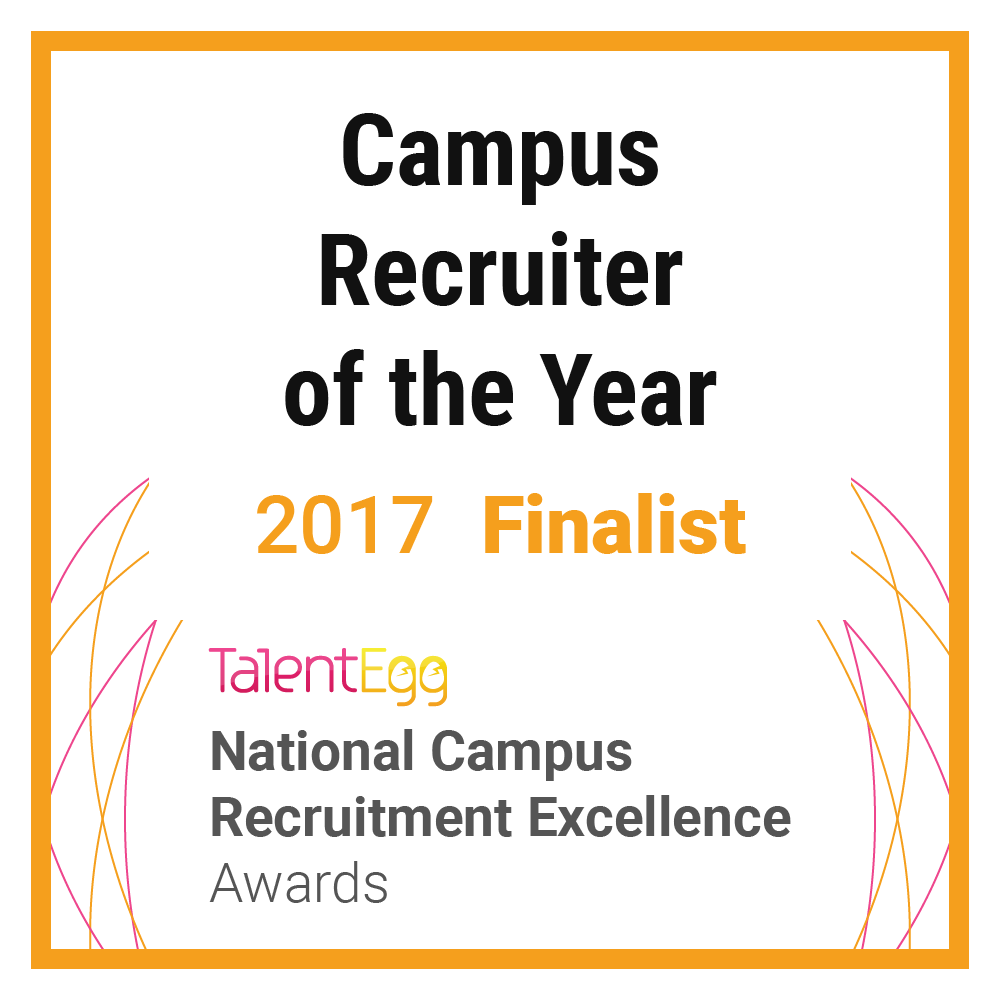 Campus Recruiter of the Year 2017 Finalist