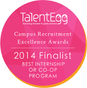 2014 Finalist for Best Internship or Co-op Program