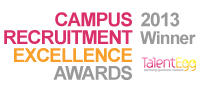 Campus Recruitment Excellence Awards Winner 2013