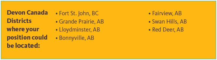 Devon Canada Jobs