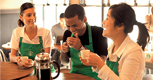 how to create an employee profile on starbucks