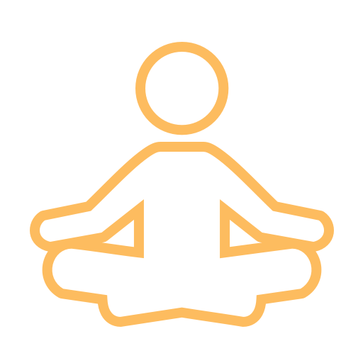 person meditating icon